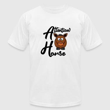 Attention Whore Horse Animal Riding - Men's Fine Jersey T-Shirt