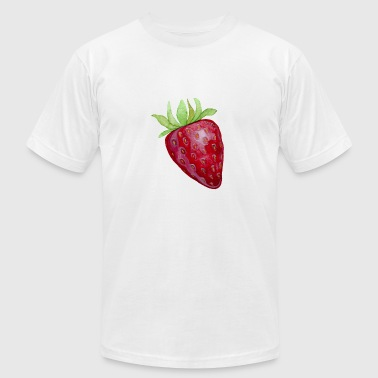 Fruits Strawberry Strawberry Fruit - Men's Fine Jersey T-Shirt