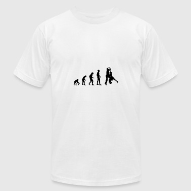 Evolution Of Ice Skating Ice skating Evolution - Men's Fine Jersey T-Shirt