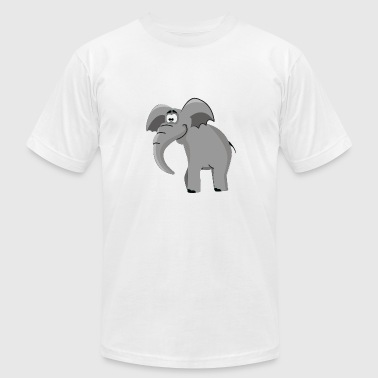 Cartoon Elephants Cartoon Elephant - Men's Fine Jersey T-Shirt