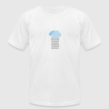Cloud computing - Binary cloud - Men's Fine Jersey T-Shirt