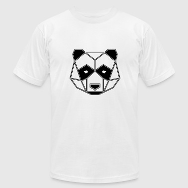 Geometric Animal: Panda Bear - Men's Fine Jersey T-Shirt