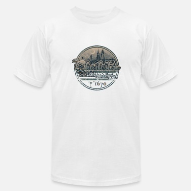 Charleston Wv Charleston - Retro - Men's Fine Jersey T-Shirt