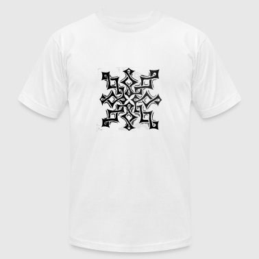 TRIBAL INTERLOCK - Men's Fine Jersey T-Shirt