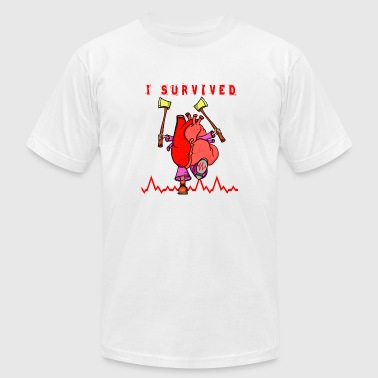I survived a heart attack - Men's Fine Jersey T-Shirt
