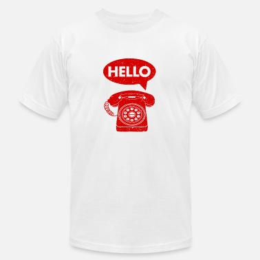 Landline hello phone amazon - Men's  Jersey T-Shirt