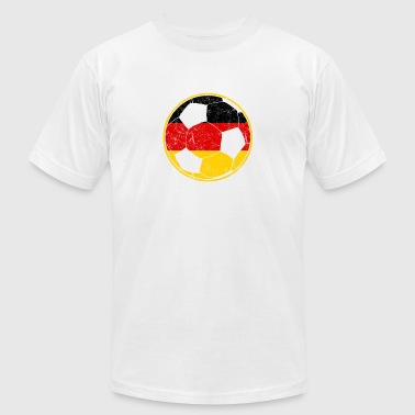German Soccer Ball Flag - Men's Fine Jersey T-Shirt