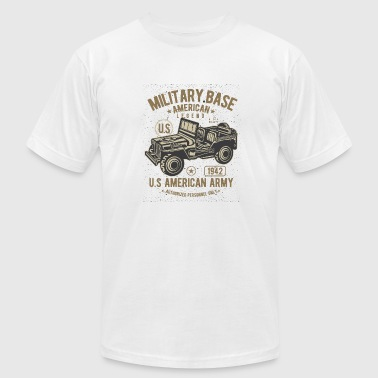 Indian Army American Army Jeep - Men's Fine Jersey T-Shirt