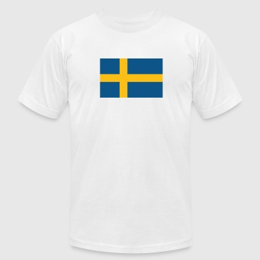 Flag of Sweden Cool Swedish Flag - Men's Fine Jersey T-Shirt