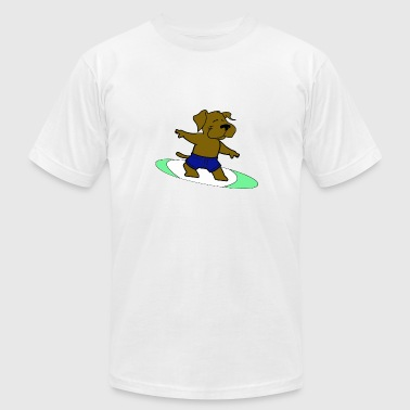 Surfing Dog - Dog Surfing - water - Men's Fine Jersey T-Shirt