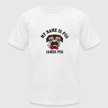 Agent 007 my name is pug james mops agent 007 t-shirt - Men's Fine Jersey T-Shirt