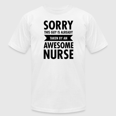 Couples Doctor This Guy Is Already Taken By An Awesome Nurse - Men's Fine Jersey T-Shirt