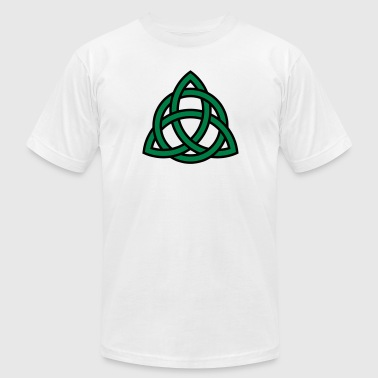 Irish Trinity Knot Triquetra Celtic Patricks Day - Men's Fine Jersey T-Shirt