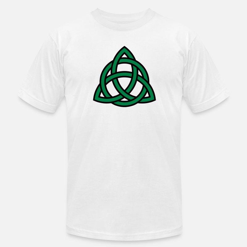 Irish T-Shirts - Irish Trinity Knot Triquetra Celtic Patricks Day - Men's Jersey T-Shirt white