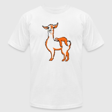 llama and sloth - Men's Fine Jersey T-Shirt