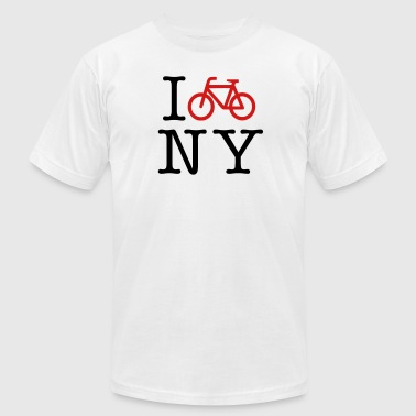 Ny Bike I Bike New York - Men's Fine Jersey T-Shirt