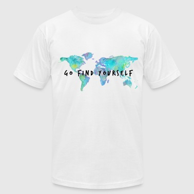 Traveling Go Find Yourself - Travel The World! - Men's Fine Jersey T-Shirt