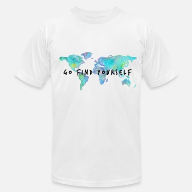 Traveling Quotes Go Find Yourself - Travel The World! - Men's  Jersey T-Shirt