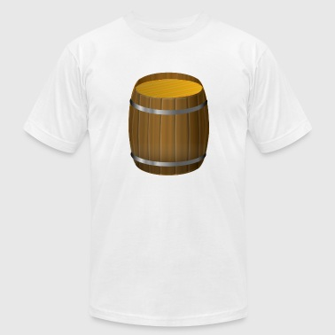 Wine Barrel wine barrel wein fass weintrauben - Men's Fine Jersey T-Shirt