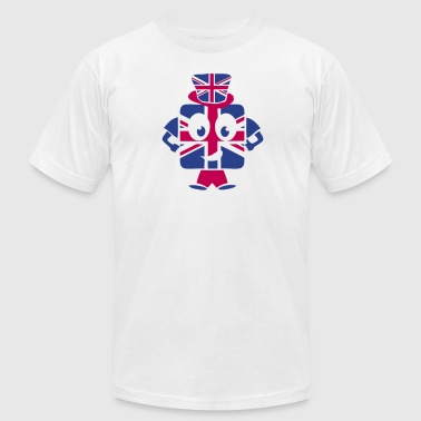 english flag character funny guy - Men's Fine Jersey T-Shirt