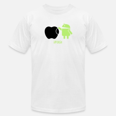 Android Droid ANDROID fix APPLE  - Men's  Jersey T-Shirt