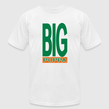 Big Poppa With Outline - Men's Fine Jersey T-Shirt