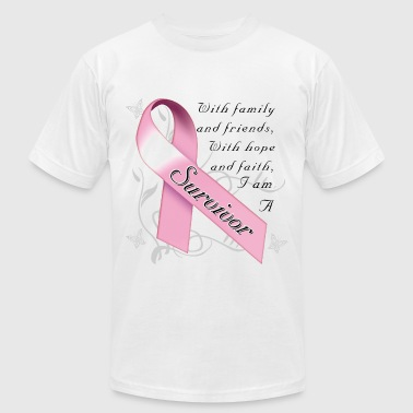 Breast Cancer Survivor - Men's Fine Jersey T-Shirt