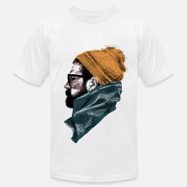 Graphic Bearded Guy 1 - T-shirt pour hommes