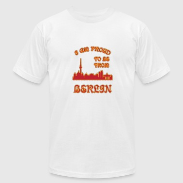 Berlin I am proud to be from - Men's Fine Jersey T-Shirt