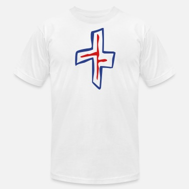 Hood Christian Apparel 3 Color Christian Cross - Men's  Jersey T-Shirt