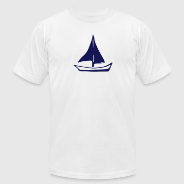 Sailing - sailboat - Men's Fine Jersey T-Shirt