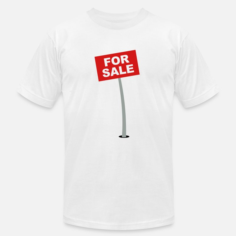 Off T-Shirts - For Sale Sign - Men's Jersey T-Shirt white