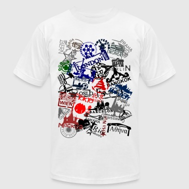 passport stamps - Men's Fine Jersey T-Shirt