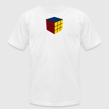 90s-pop-culture Game Cube SOLVED - Men's Fine Jersey T-Shirt