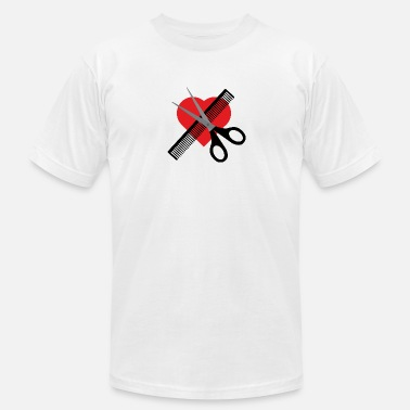 Scissors Comb scissors & comb & heart - Men's Jersey T-Shirt