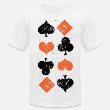 Cards vintage poker playing cards - Men's Jersey T-Shirt