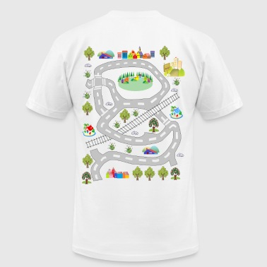 colorful houses - Men's Fine Jersey T-Shirt