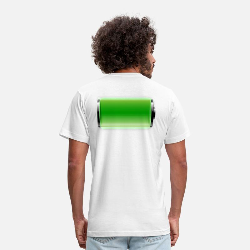 Artist T-Shirts - Charged up - Men's Jersey T-Shirt white