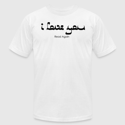 Arabic Text Illusion - Men's T-Shirt by American Apparel