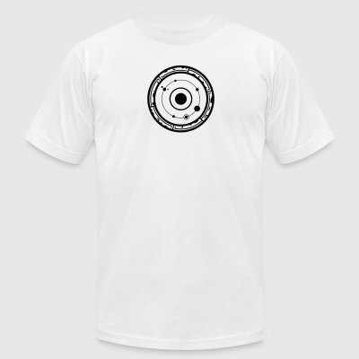crop circles 53 - Men's T-Shirt by American Apparel