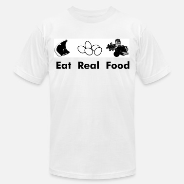 Real American Apparel Eat Real Food - Men's  Jersey T-Shirt