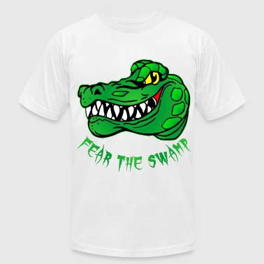 Fear The Swamp Gator - Men's Fine Jersey T-Shirt