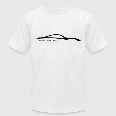 Infiniti Q60 Coupe Glow in the Dark Silhouette - Men's Fine Jersey T-Shirt