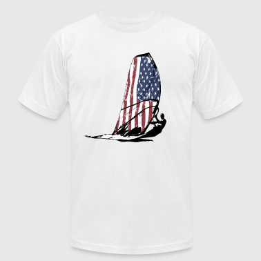 USA Surfing - Vintage Flag - Men's Fine Jersey T-Shirt