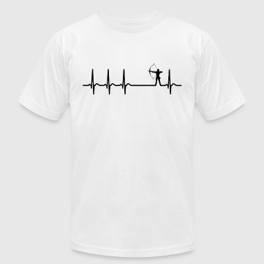 heartbeat archery arrow club team funny quote gift - Men's T-Shirt by American Apparel