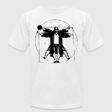 THE BIG LEBOWSKI VITRUVIAN THE DUDE RETRO VINTAGE - Men's T-Shirt by American Apparel