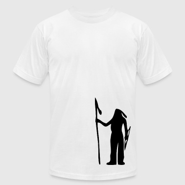 American Indian Silhouette - Men's Fine Jersey T-Shirt