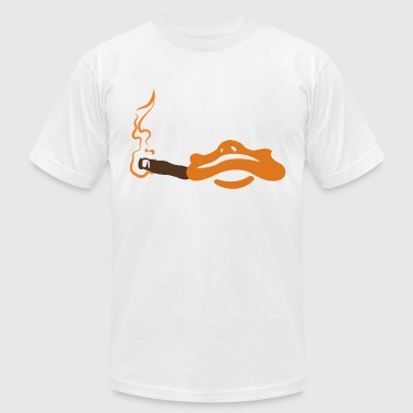 Howie smoking a stogie - Men's Fine Jersey T-Shirt