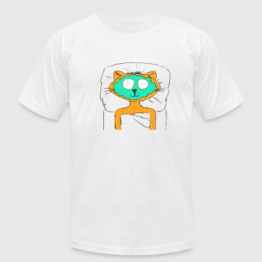 Spa Cat - Men's T-Shirt by American Apparel