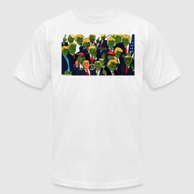 Trump Pepe Collage - Men's T-Shirt by American Apparel